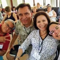En el retiro en Chapala, México. Acogido por Living Miracles (David Hoffmeister)